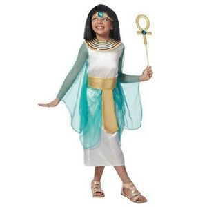 Girls CLEOPATRA Egyptian Queen costume Scepter NWT